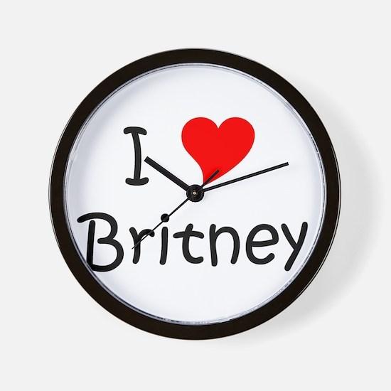Cute Britney Wall Clock