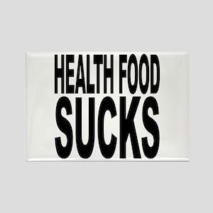 Health Food Sucks Rectangle Magnet