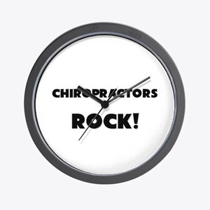 Chiropractors ROCK Wall Clock
