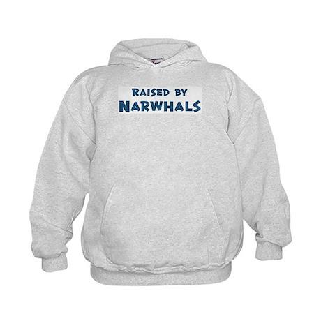Raised by Narwhals Kids Hoodie