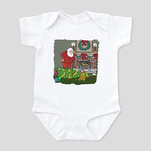 Santa's Helper Scottish Fold Infant Bodysuit