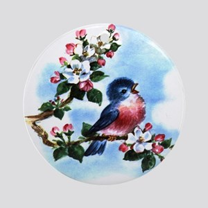 Vintage Bluebird Ornament (Round)
