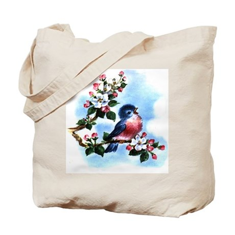 Vintage Bluebird Tote Bag