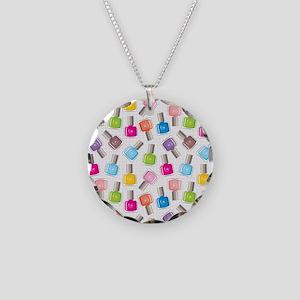 NAIL POLISH Necklace Circle Charm
