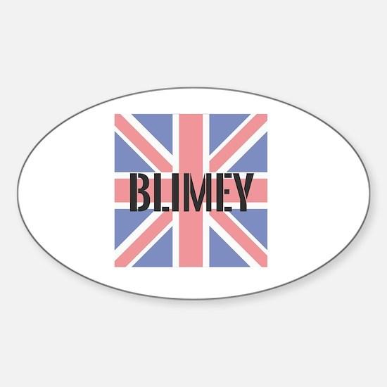 Cute Blimey Sticker (Oval)