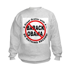Anti Obama Do Nothing Record (Front) Sweatshirt