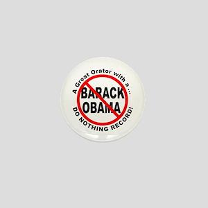 Anti Obama Do Nothing Record Mini Button