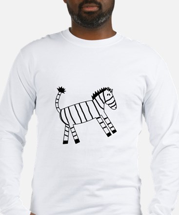 Quirky Zebra Long Sleeve T-Shirt