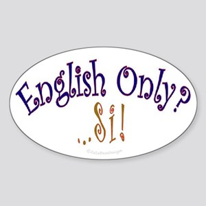 English Only Oval Sticker