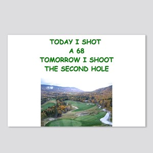 golf humor calendar Postcards (Package of 8)