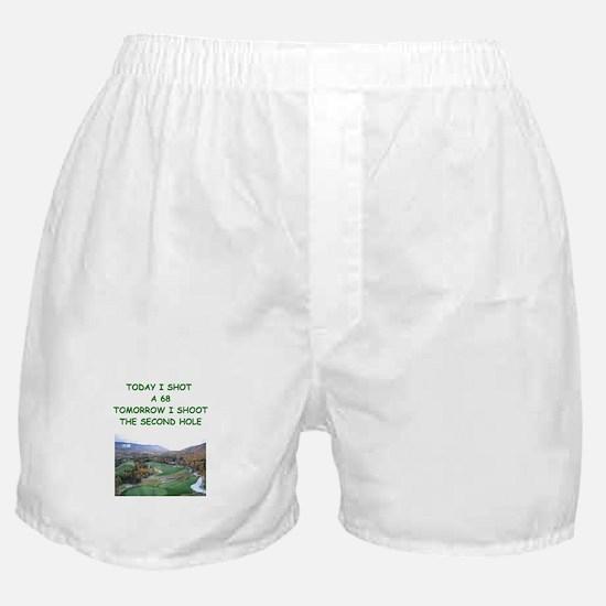 golf humor calendar Boxer Shorts
