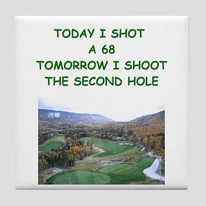 golf humor calendar Tile Coaster