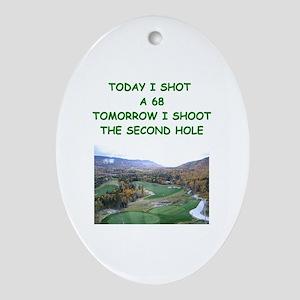 golf humor calendar Oval Ornament