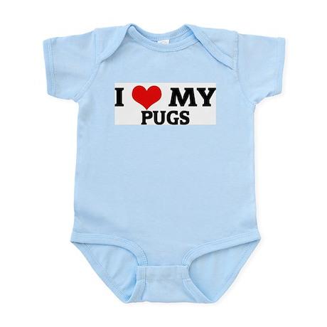I Love My Pugs Infant Creeper