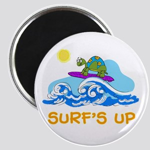 """Surfing Turtle 2.25"""" Magnet (10 pack)"""