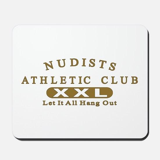 Nudist Athletic Club Mousepad