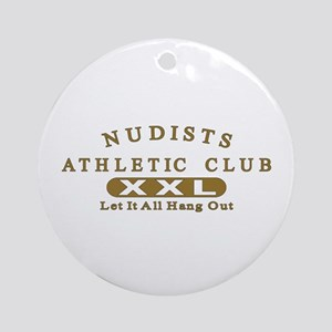Nudist Athletic Club Ornament (Round)