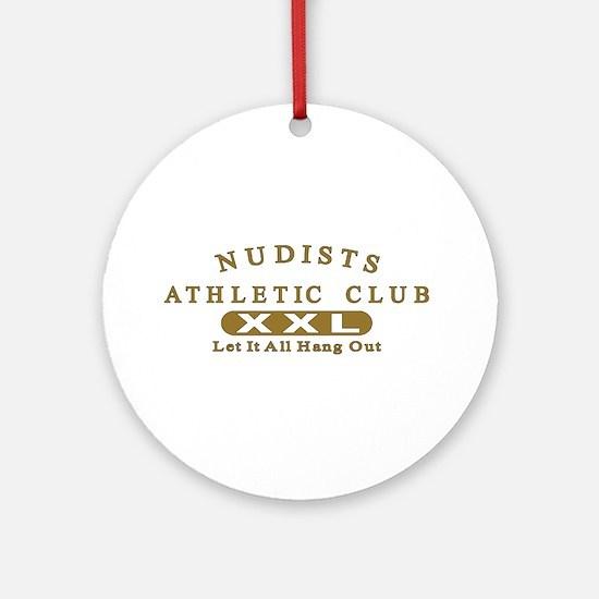 Nudist Athletic Club Ornament (Round)