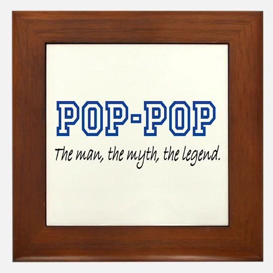 Pop-Pop Framed Tile