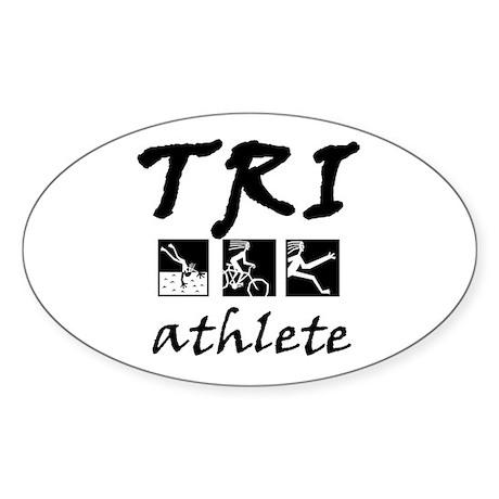TRI STICKERS Oval Sticker