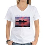 Konocti Sunset Women's V-Neck T-Shirt