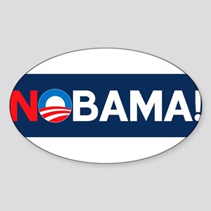 """NOBAMA!"" Oval Sticker"