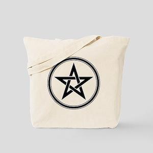 Black Pentagram Tote Bag