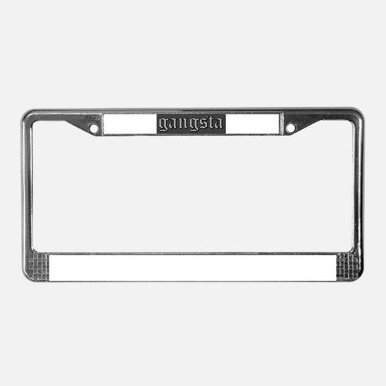 Cute Gangsta License Plate Frame