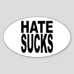 Hate Sucks Oval Sticker