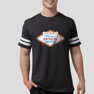 Las Vegas Birthday 50 Mens Football Shirt T-Shirt