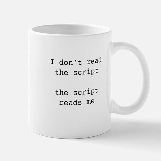Script reads me Mug