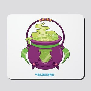Halloween Franken Cauldron Mousepad