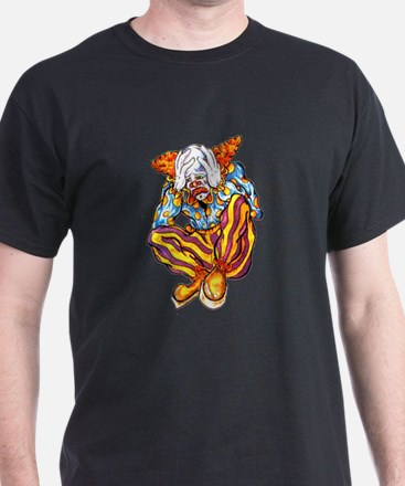 Sad Circus Clown Tattoo (Front) T-Shirt