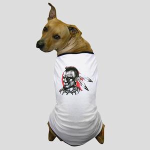 Mohawk Indian Tattoo Art Dog T-Shirt