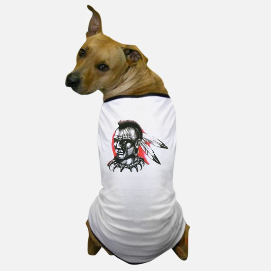 Mohawk Indian Tattoo Art Dog T-Shirt