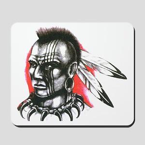 Mohawk Indian Tattoo Art Mousepad