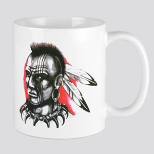 Mohawk Indian Tattoo Art Mug