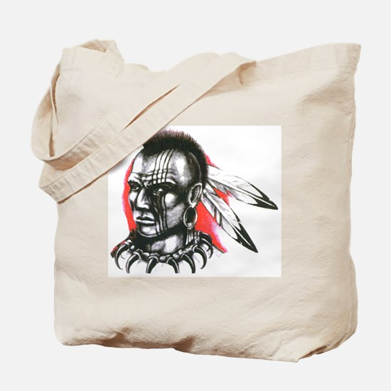 Mohawk Indian Tattoo Art Tote Bag