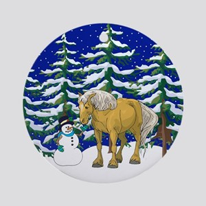Winter Belgian Ornament (Round)