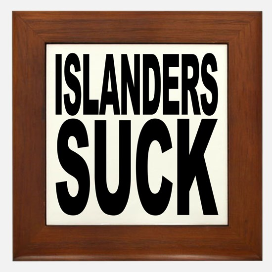 Islanders Suck Framed Tile