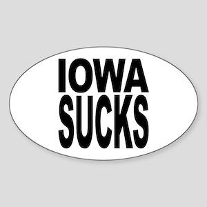 Iowa Sucks Oval Sticker