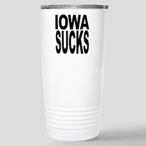Iowa Sucks Stainless Steel Travel Mug