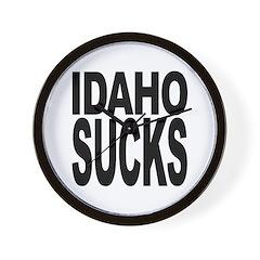 Idaho Sucks Wall Clock