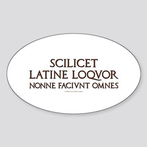 I Speak Latin Oval Sticker