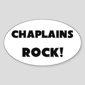 Chaplains ROCK Oval Sticker