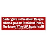 USA Heals Itself! Sticker (Bumper)