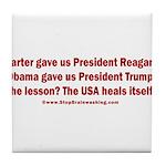 USA Heals Itself! Tile Coaster