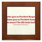 USA Heals Itself! Framed Tile