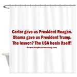 USA Heals Itself! Shower Curtain
