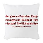 USA Heals Itself! Woven Throw Pillow